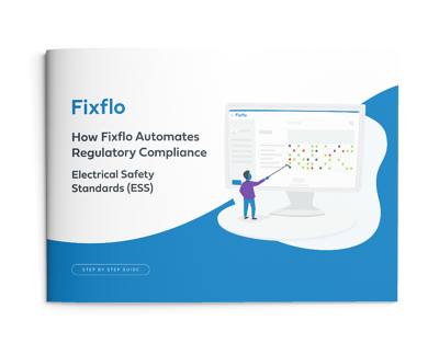 How Fixflo Automates Regulatory Compliance - Electrical Safety Standards book mockup
