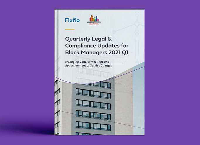 Quarterly Legal & Compliance Updates for Block Managers 2021 Q1