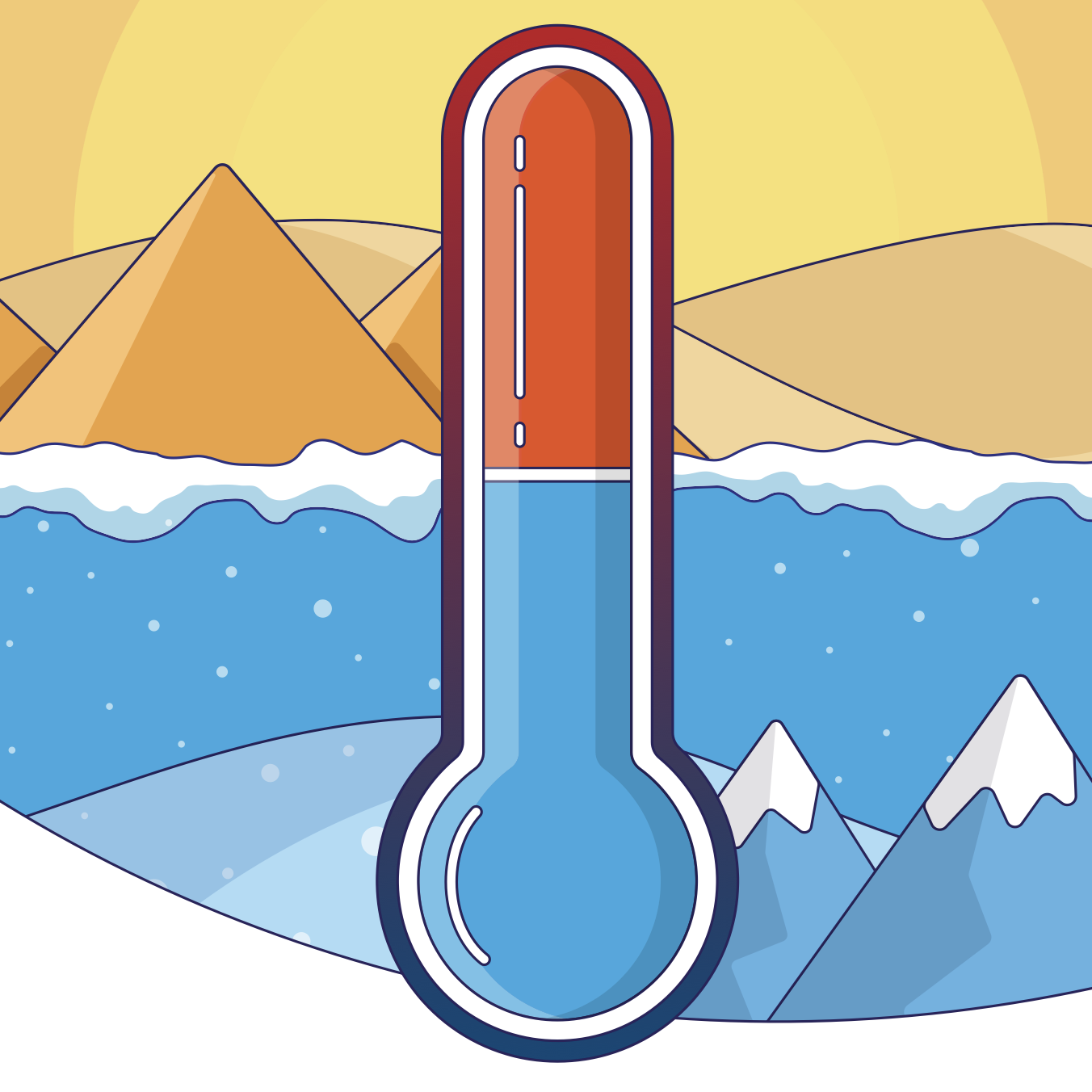 Who is responsible for the temperature of a property?