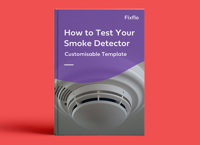 How to Test Your Smoke Detector - Customisable Template